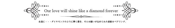 【Heart Of Concept】ダイヤ2ラインポージーペアリング - 222BK/PK